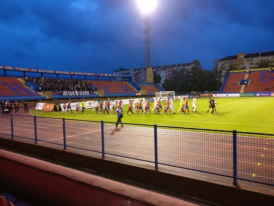 Banja Luka, Bosna Hersek: Teams coming out.