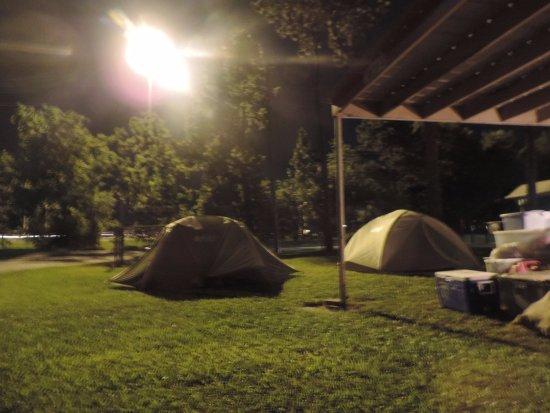Scott, LA: well lit campground
