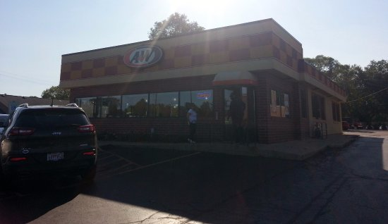 Hales Corners, WI: front of & entrance to A&W