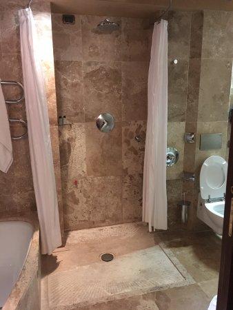Hotel Saturnia & International: walk in shower