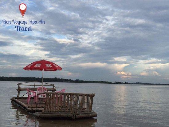 Hpa An, Myanmar: Bamboo Rafting