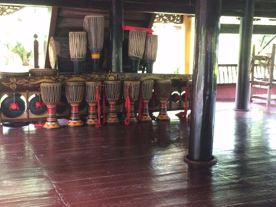 Menglian County, China: Elephant legs drums