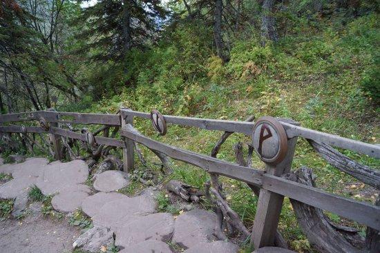Manzherok, รัสเซีย: Дорога к Золотой Бабе с рунами