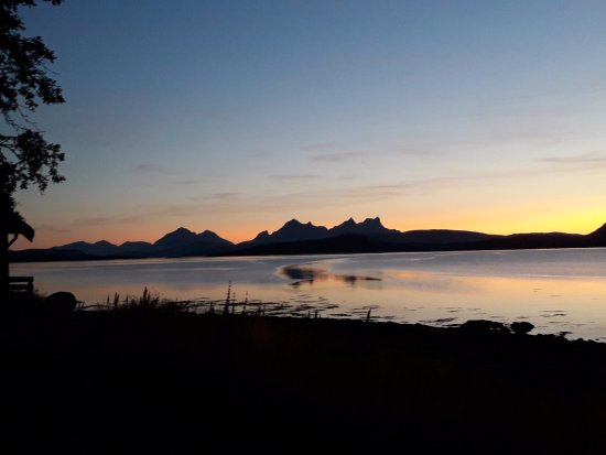 Hamaroy, Norwegen: View from the terrace of the cabin that I rented, they all have this view
