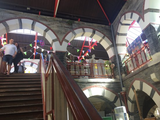 Cardigan Guildhall Market: Lower level and arches