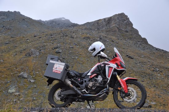 Heiligenblut, Austria: CRF1000 on the mountain road