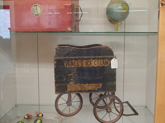Chadron, NE: Walls Ice Cream wagon, Dawes County Historical Museum