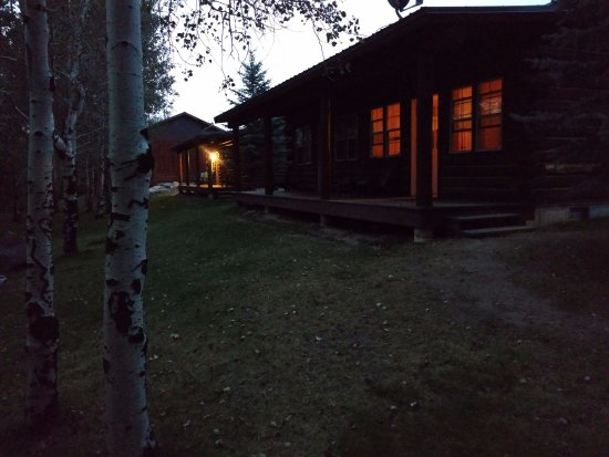 Pinedale, WY: Cabin from yard, cabins are divided into two rooms