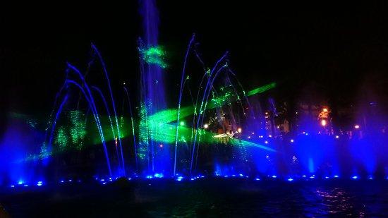 Illuminated Fountain Photo