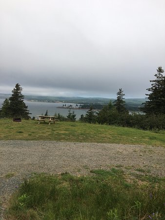 View from our Five Islands Provincial Park campsite. The fog rolled in shortly after dinner.