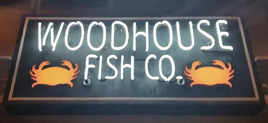 Front sign picture of woodhouse fish company san for Woodhouse fish co
