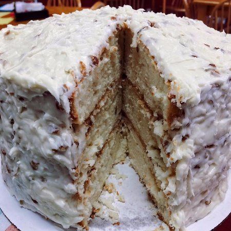 Sulphur Springs, TX: italian creme cake - sold by the slice or whole