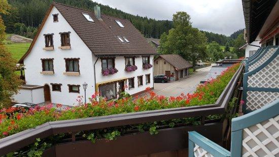 Hotel Engel Obertal : Vu de la terrase devant
