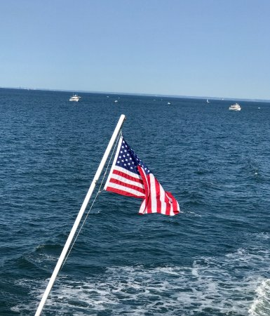 Port Jefferson, NY: The view from the back of the boat