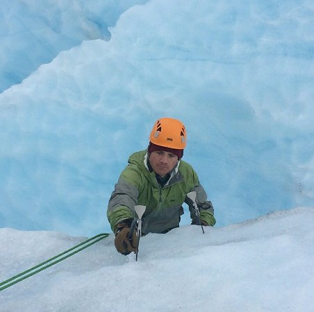 Exit Glacier Guides - Day Tours: Reaching the top of the climb out of a crevasse