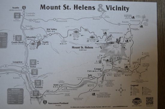 Castle Rock, WA: Map of the Mount St. Helens area