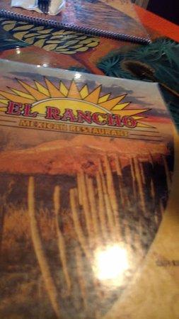 El Rancho: menu