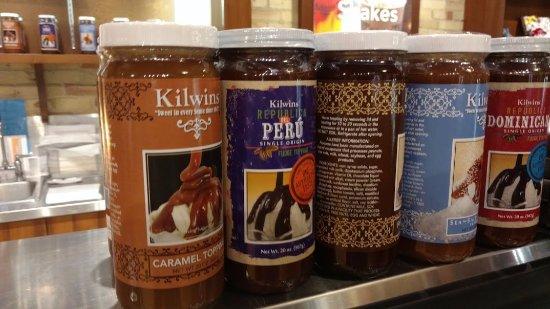Saugatuck, MI: their own ice cream sauces