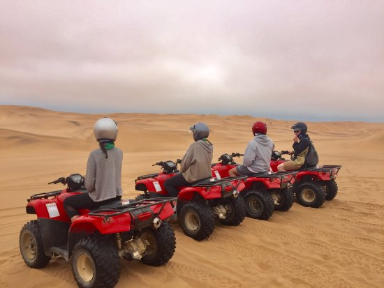 Виндхук, Намибия: ATVing in the dunes of Swakopmund! Definitely the highlight for the daredevils in our group.