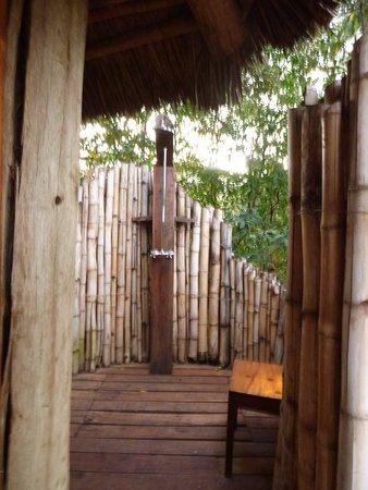 Lake Manyara National Park, Tanzania: outdoor shower