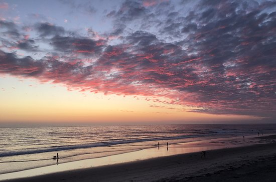 Cardiff-by-the-Sea, CA: After sunset, pink clouds!