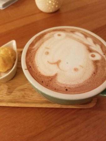 Artesia, CA: Latte art for my lavender hot chocolate