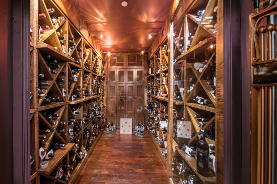 Islip, NY: Tellers' impressive wine vault is accompanied by a wine list just as impressive.