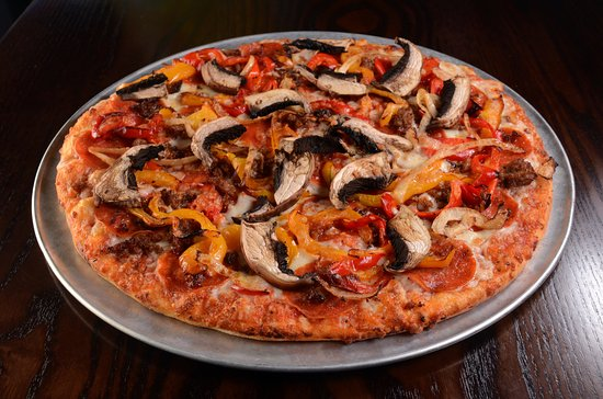 Shingle Springs, CA: Basecamp - Pepperoni, Italian sausage, roasted peppers & onions, our four cheese blend & Portabe