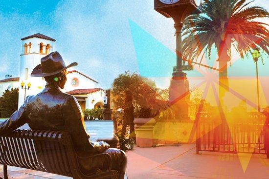 Camarillo, CA: Statue of Joel McCrea
