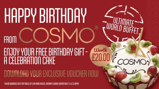 Free birthday cake download voucher picture of cosmo coventry cosmo coventry free birthday cake download voucher negle Choice Image