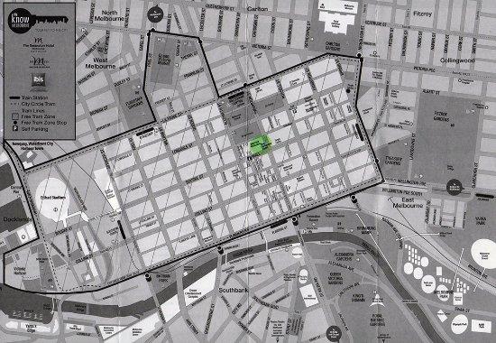 مركيور ويلكم ملبورن: Mercure Welcome Melbourne - Map showing hotel's location (Note: Map provided by hotel)