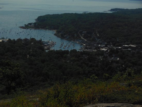 Mount Battie: Rockport harbor