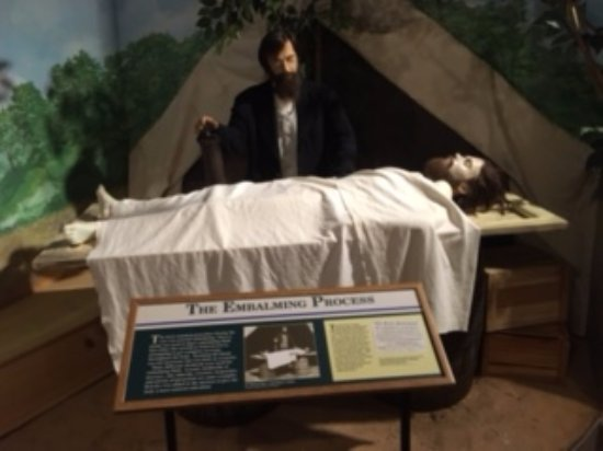 National Museum of Civil War Medicine: Shows the embalming process in the field.