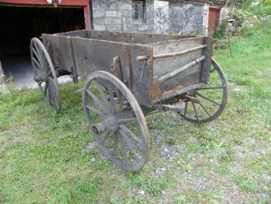 Victor, NY: The Old Wooden Wagon from 1770