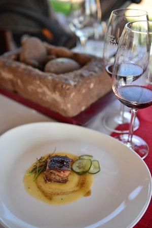 Bodega Ruca Malen: um dos pratos do menu