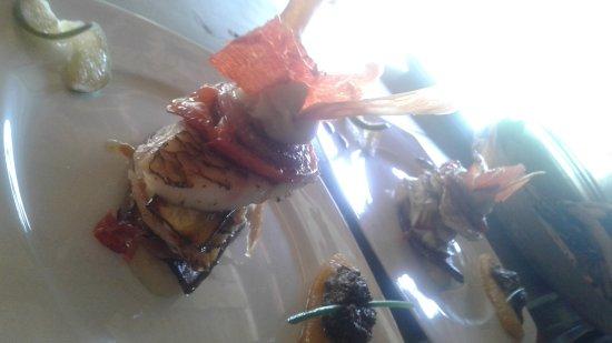 Grand Bourg, Гваделупа: Mille feuille de perroquet. ..mousseline de fruit à pin ti légumes confit