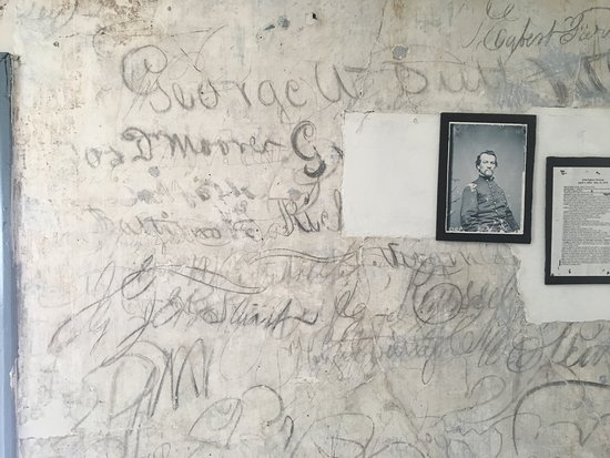 Brandy Station, VA: each wall is different and contains many names from occupying Union troops