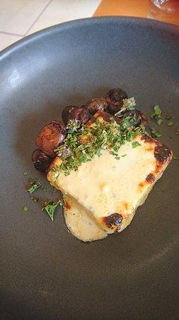 Willunga, Australia: Potato and polenta gnocchi with wine mushrooms (entree size)