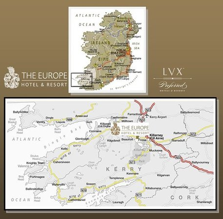 The Europe Hotel & Resort: The Europe Hotel Resort Map