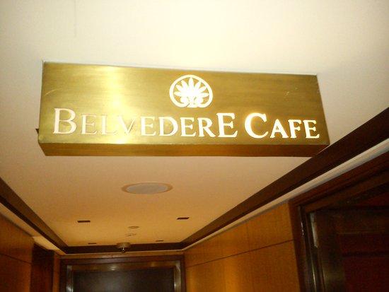 Belvedere Hotel: Entrada al salón donde se sirve el desayuno