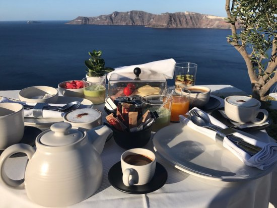 Ikies - Traditional Houses: breakfast on private terrace