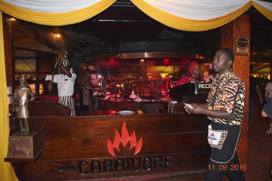 Grilling area picture of the carnivore restaurant for Arabian cuisine nairobi