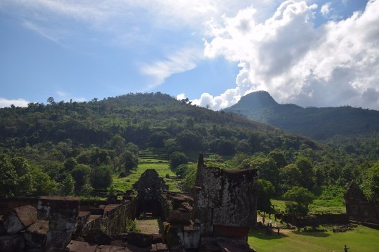 Champasak Town, Laos: Vat Phou - View from the top of the southern quadrangle