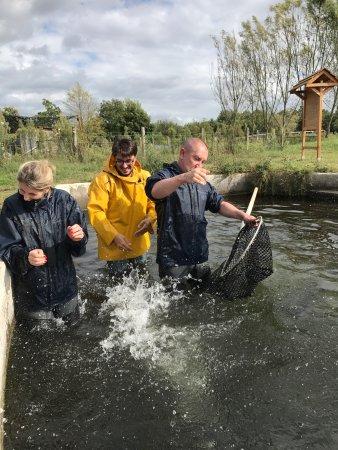 Neuvic, Fransa: La pêche des esturgeons est toujours un moment très ludique