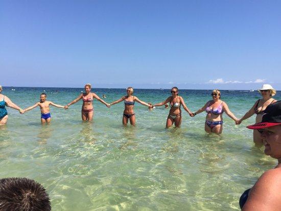 Thalassa Sousse Resort & Aquapark: Аэробика в море