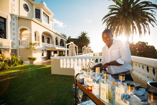 Bantry Bay, Zuid-Afrika: Sunset drinks