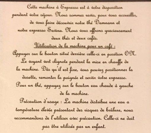 Moelan sur Mer, France: Nespresso utilisation