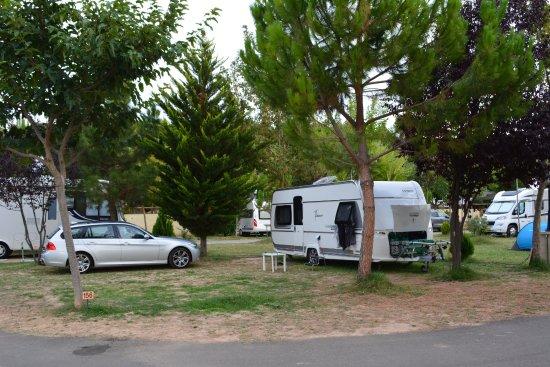 Camping du Lac de Bonnefon: Onze campingplek.