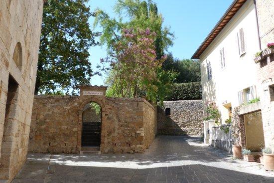 San Quirico d'Orcia, Olaszország: Chiesa di S.Maria Assunta giardino delle rose