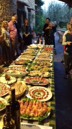 Villa Le Torri: The welcome supper, deliciously spectacular